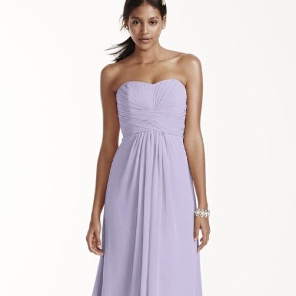 aa55b77c09 David s Bridal Dresses   Skirts - 💕David s Bridal Long Chiffon Bridesmaid  Dress